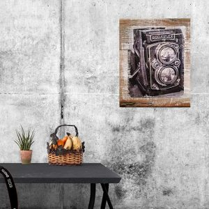 Mockup of Rolleiflex Camera Wall Decor