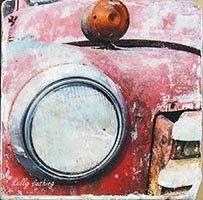 Red Chevy Truck Headlight Coaster