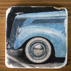 Blue Vintage Car Coaster