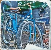Blue Bike Coaster
