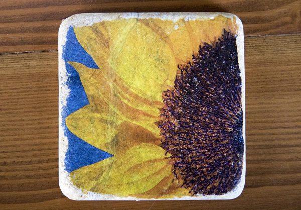 Half Sunflower Coaster