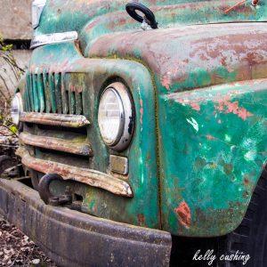 Green Vintage Chevy Truck, Chilliwack, BC