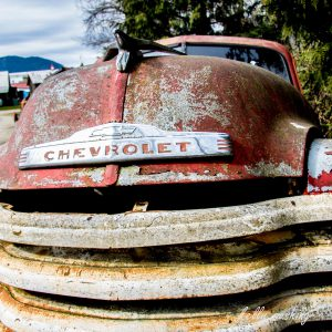 Red Vintage Chevy Truck, Chilliwack, BC