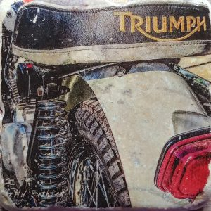 Triumph Motorcycle Seat Coaster