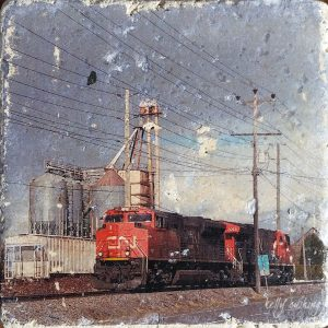 Langley Train Coaster by Kelly Cushing