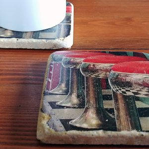 Diner Stool Coaster by Kelly Cushing
