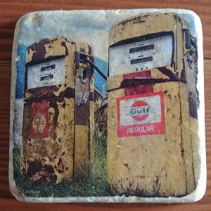 Old Gas Pumps Coaster