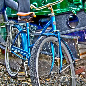 Vintage Blue Bike, Chilliwack, BC