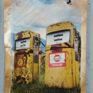 Vintage Gas Pumps Wall Decor