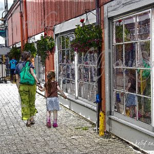 Mother and Daughter at Granville Island