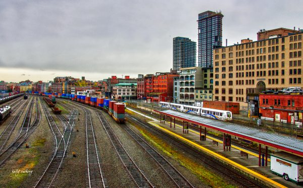 Downtown Vancouver Train Yard