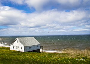 House overlooking the Atlantic Ocean, Cape Breton, Nova Scotia