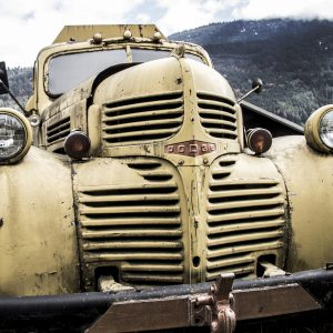 Vintage Yellow Dodge Truck, North Bend, BC