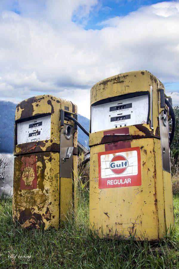Vintage Gas Pumps, North Bend, BC