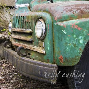 Vintage Green Chevy Truck