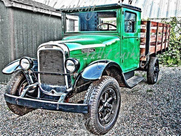 Green Federal Truck