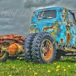 Blue KMS Truck