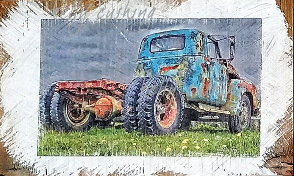 Blue KMS Truck Wall Decor