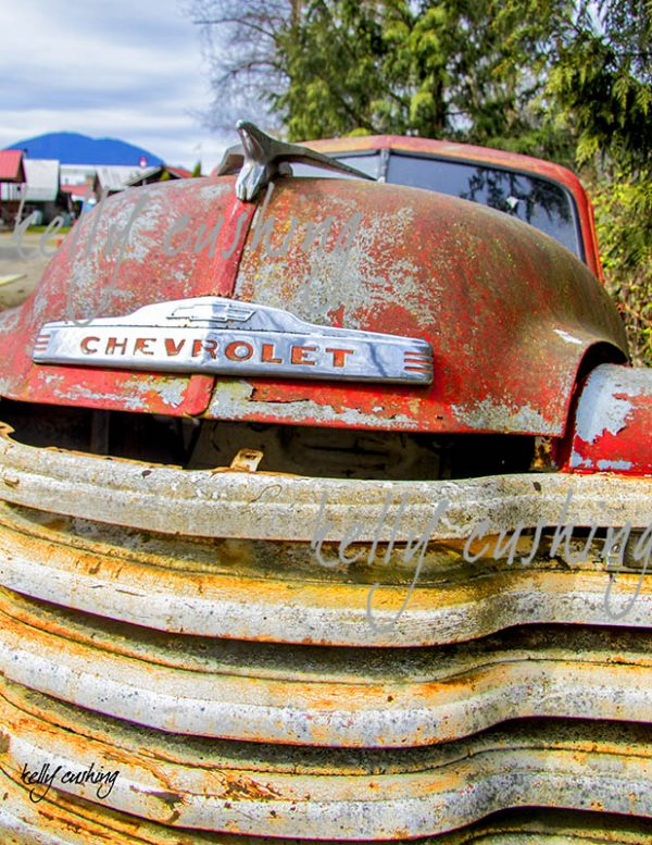 Vintage Red Chevy Truck
