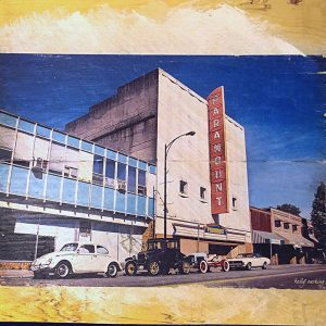 Vintage Cars by Paramount Theatre Wall Decor