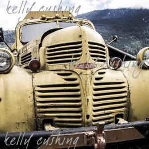 Vintage Yellow Dodge Truck