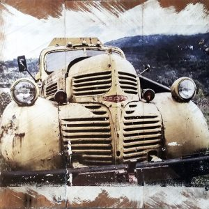 Yellow Dodge Truck Wall Decor by Kelly Cushing
