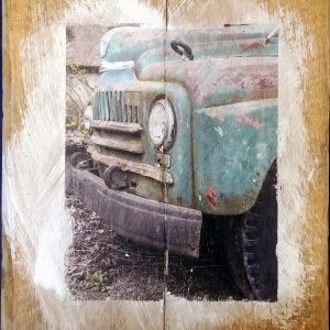 Green Chevy Truck Wall Decor