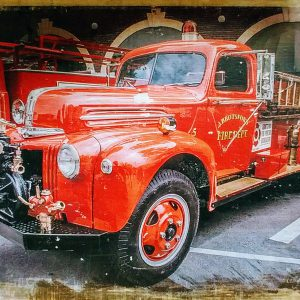 Abbotsford Vintage Fire Truck Wall Decor