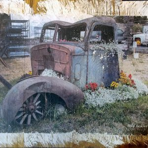 Vintage Truck with Flowers Wall Decor