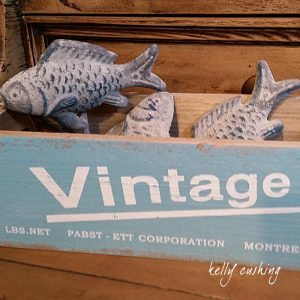Vintage Box with Decorative Fish