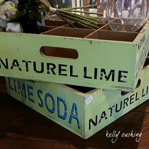 Vintage Lime Soda Box