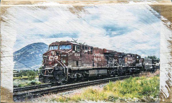Kamloops CP Train Wall Art