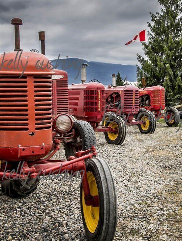 Row of Tractors