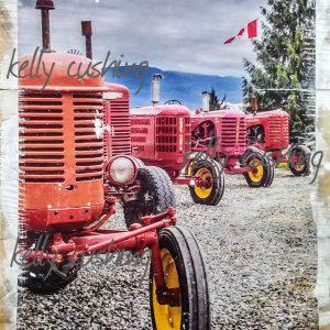 Row of Tractors Wall Art