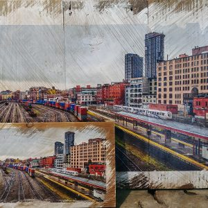 Downtown Train Yard Wall Decor by Kelly Cushing