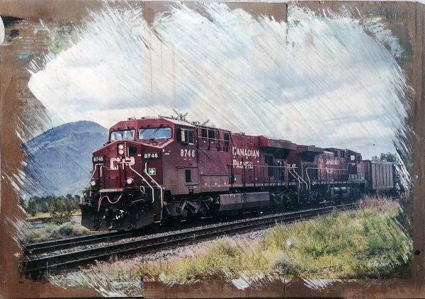 Kamloops Train Wall Decor by Kelly Cushing