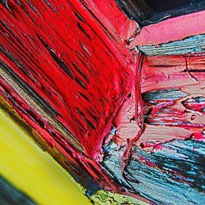 Peeling Red Paint Print