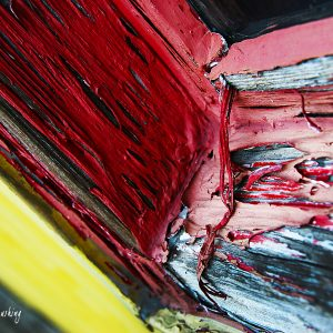 Peeling Red Paint by Kelly Cushing