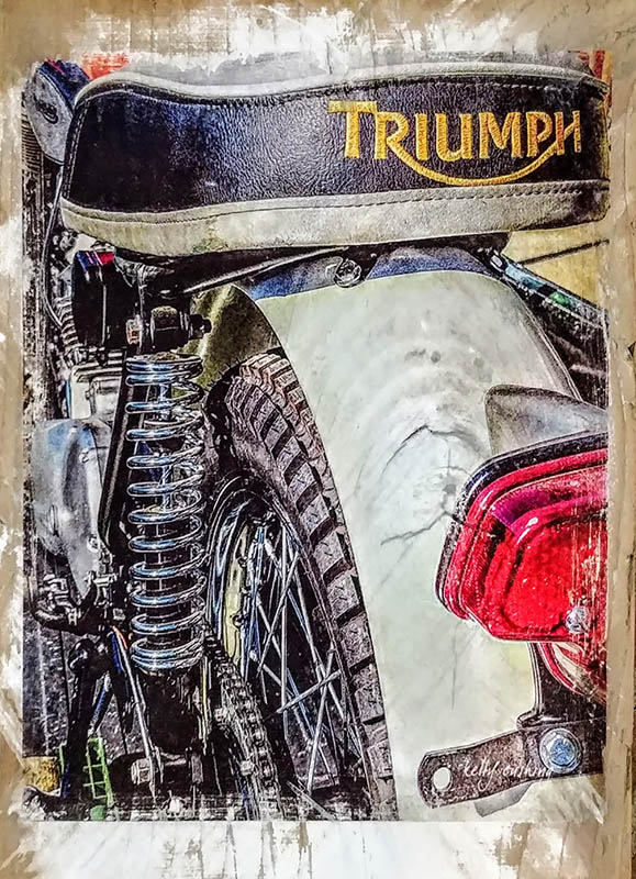 Wall Decor of a Triumph Seat