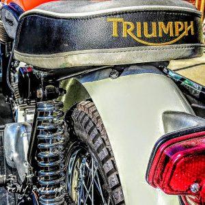 Triumph Bike Seat by Kelly Cushing Photography