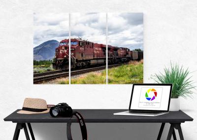 Kamloops Train Triptych by Kelly Cushing